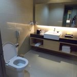 A very clean and spacious bathroom