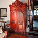 Beautiful armoire in master bedroom