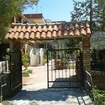 Entrance to Vila Gersina in Golem Albania