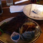 Half Rack of Ribs. I couldn't finish the potato the ribs were so big!