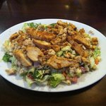 Joe's Signature Chopped Salad (topped with Cajun grilled chicken per my request - normally has r