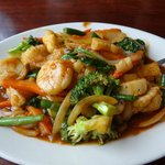 Pad Nam Sriracha with Scallops