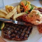 Ribeye Steak and Lobster
