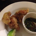 crispy chicken w tangy dip (eaten half)