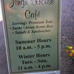 Tea House Hours