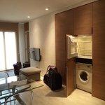 living room, refrigerator, washing machine