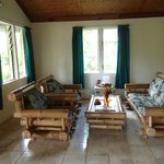 Living area in the bure