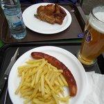 Bratwurst and chicken