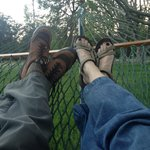 In the hammock after a day fishing.
