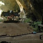 The pavillion shrine in the cave - rather a spectacle.