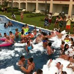 Foam Pool Party - swim-up pool rooms