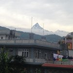 View of the mountain from the terrace