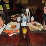 Our first meal in Uganda