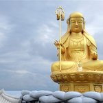 golden buddha  and sky
