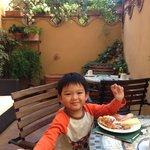 花園露臺早餐