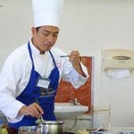 My previous job, Thai cooking instructor