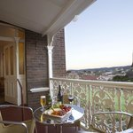 Enjoy panoramic views accross CBD and East Launceston from hotel balcony