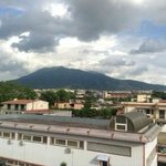 View of Vesuvius from our enormous balcony