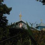 Church next to the resort