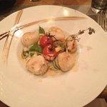 Plat - Noix de Saint Jacques risotto (sauce au lard)