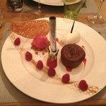 Dessert - Framboise, moelleux choco