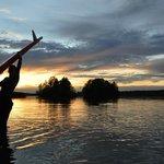 Sonnenuntergangspaddel am Seehamer See