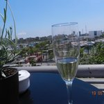 Cava on the roof terrace