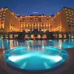 Melia outdoor pool at night