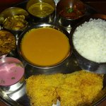 Goan fish thali