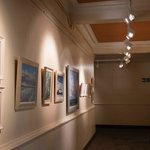 gallery with local monthly art exhibitions