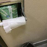 Arrived to find housekeeping didn't even bother to change the toilet paper. (5/28/14)