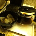 Coffee pot not emptied or cleaned prior to arrival (5/28/14)