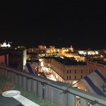 @Rooftop Bar looking out at Tower of David, Old City Jerusalem
