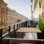 Балкон из апартаментов Гагарин