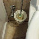 Iki kisilik geceligine 250 lira olan odanın tuvaletinin fırçası