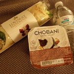 Grabbed the wrap and went back to the hotel. Added a yogurt we had in our mini fridge. Great mea