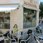 El Aguador has seating both outside and inside