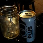 Soft drink in a pickle jar! !!!!