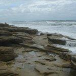 View of ocean at Coquina Rocks Beach