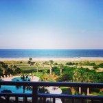 Ocean view from villa balcony