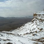 Snow on the rim of the Ramon Crater