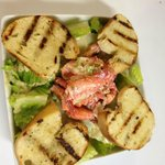 Lobster Caesar Salad with our grilled homemade Sourdough Bread