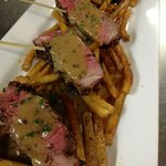 Grilled Tenderloin au Poivre with Frites