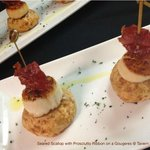 Seared Scallops with Proscuitto Ribbons