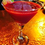 Heart Beet Martini with fresh juiced beets and ginger