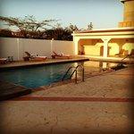 la bellissima piscina..