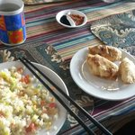 Veg fried rice & veg momo