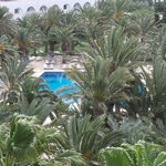 A view of one of the pools from the 4th floor.