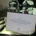 Wonderful welcome treat and bottled water