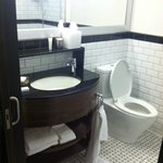 Nicely appointed bathroom in the Classic King